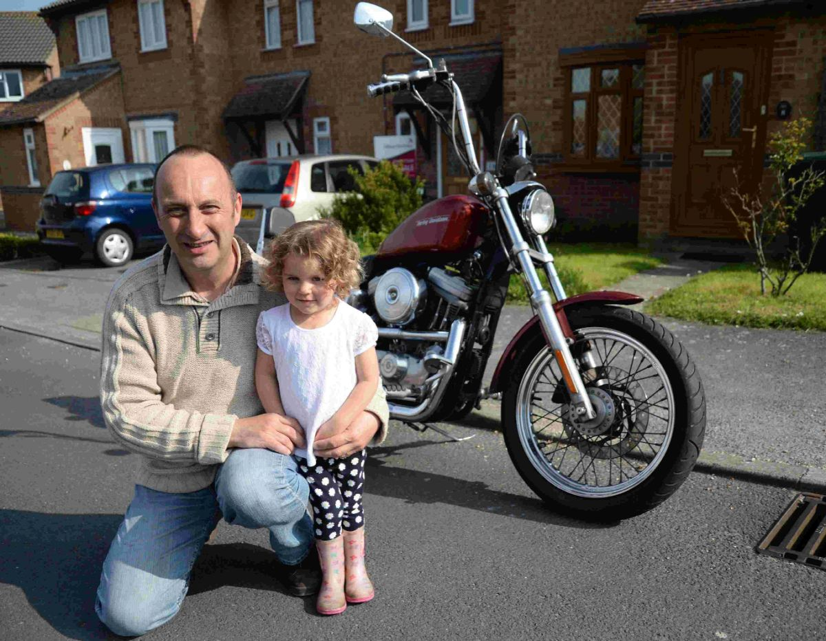 RIDE ORGANISER: John Bramble with his  grandaughter Sophie Davidge, who was treated at their ICU baby unit