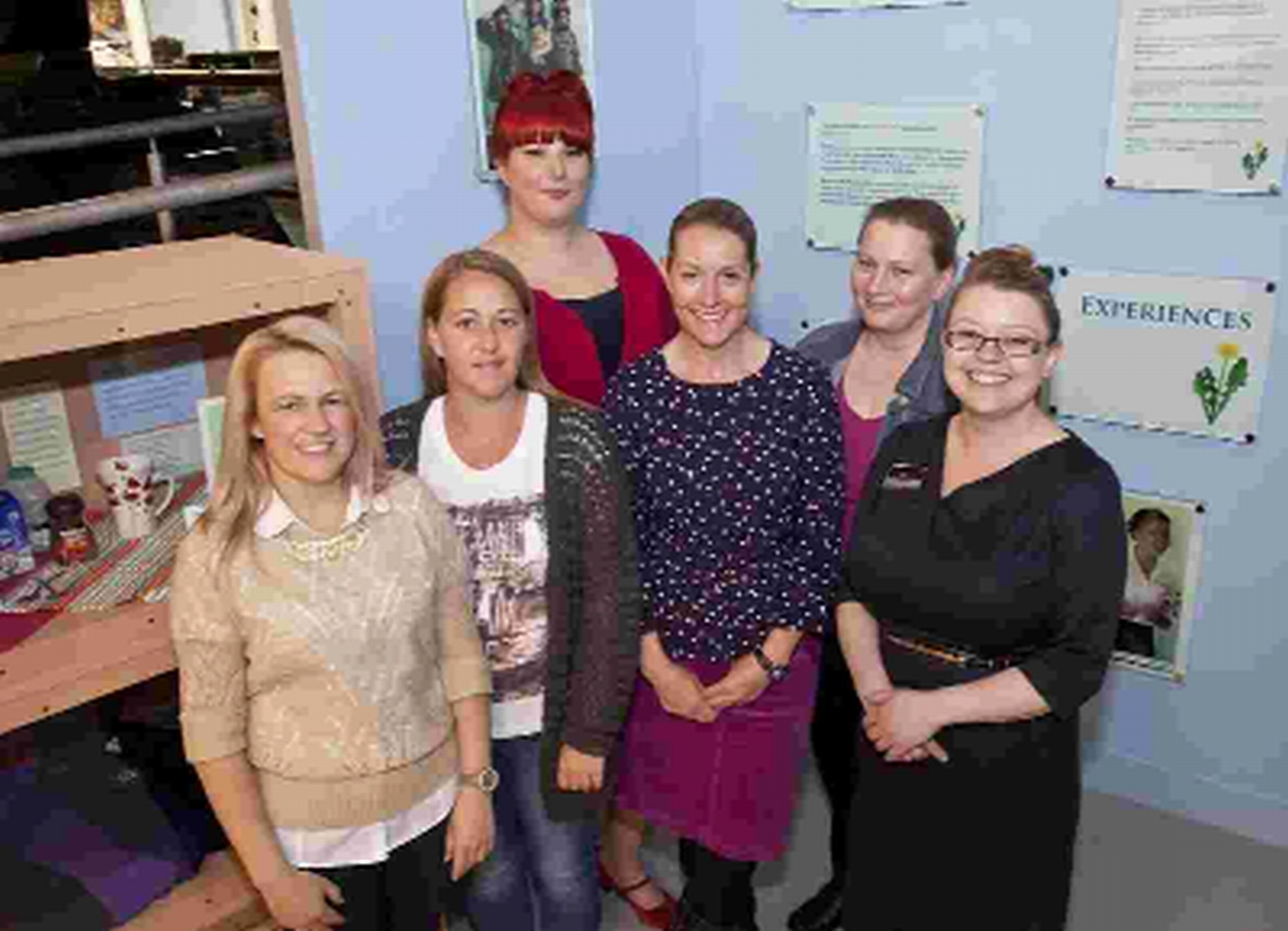 Members of the Coffee and Chat Army Wives group stationed at Bovington Camp