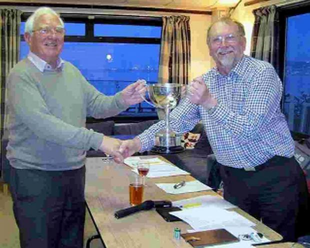 CUP OF GLEE: Jeremy Parkinson receives the Ubiquitous Cup