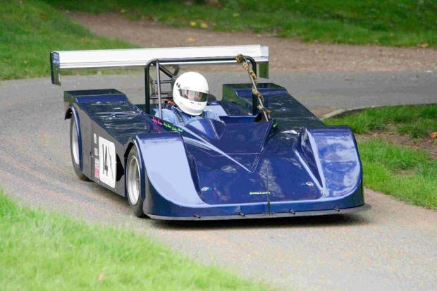 BACK IN THE HOT-SEAT: Rod Thorne will be looking to take his V8 powered Pilbeam sports racer to the fastest time of the day
