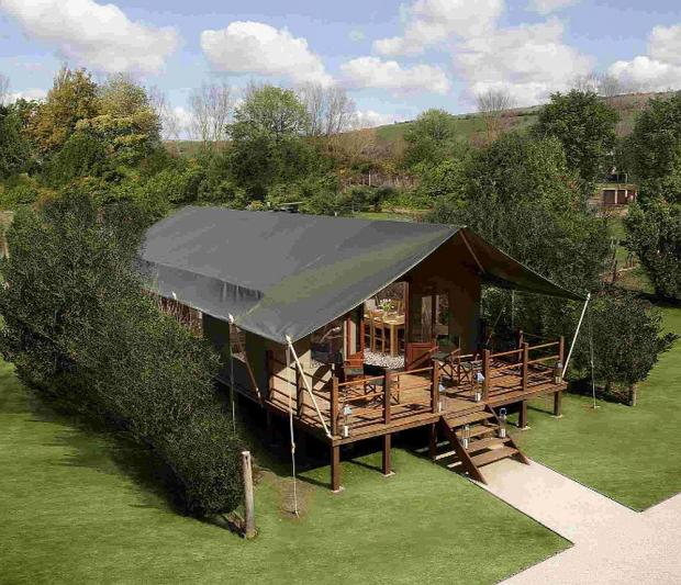 Dorset Echo: HOW IT WOULD LOOK: A photomontage of one of the safari tents being planned by Waterside Holiday Park