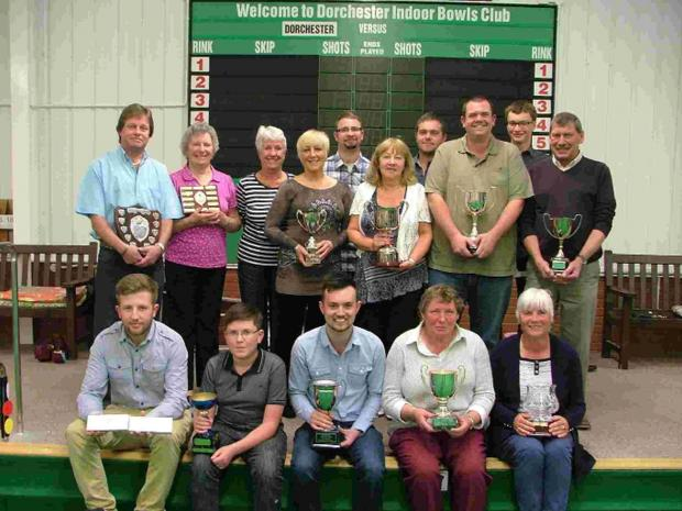 Dorset Echo: COUNTY TOWN SHOW: Members of Dorchester Bowls Club at the annual prizegiving