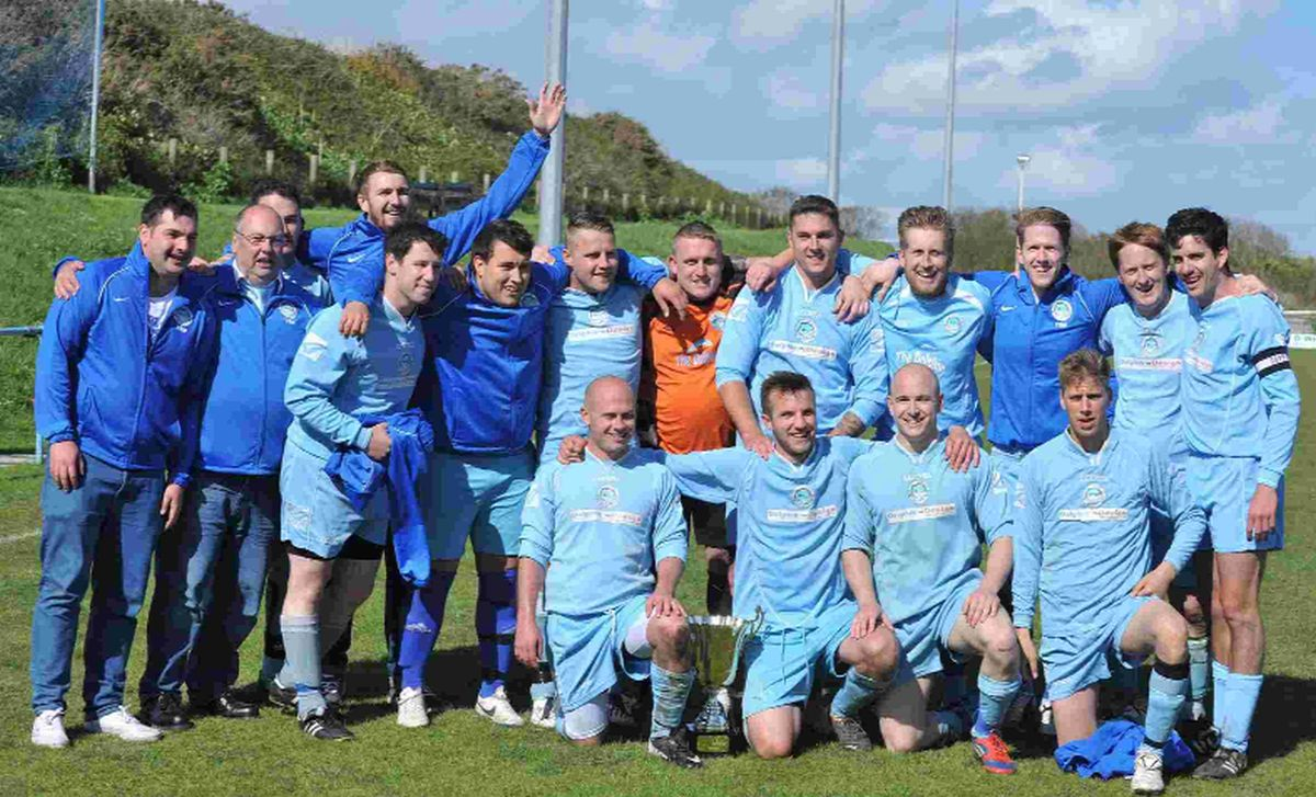 CHAMPIONS: Dolphin celebrate their cup final win