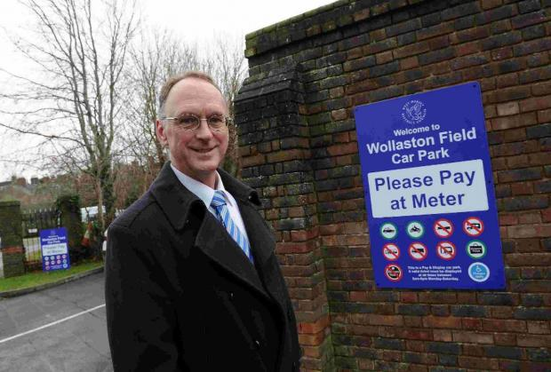 REVOLUTIONARY: Phil Gordon at Wollaston Field car park, which will hold the pilot scheme