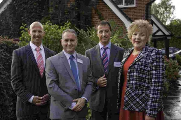 REAL GROWTH: From left, TeamJobs managing director Jason Gault, DCCI chief executive Ian Girling, Field International managing director Richard Marples and patrons manager Lorraine Hubbard