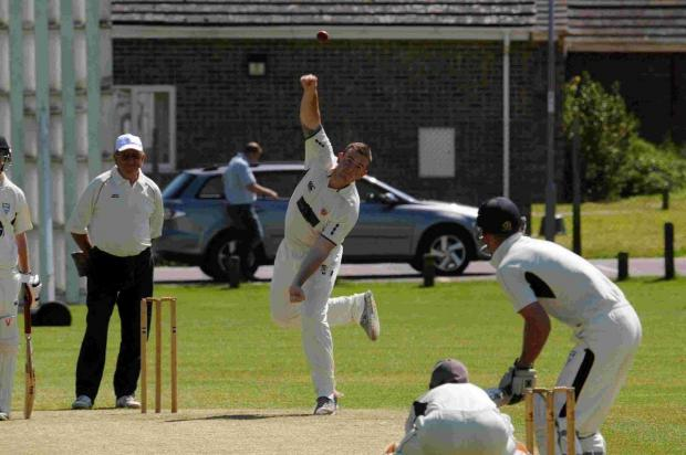 Dorset Echo: POWER SPIN: Joe Power was in the wickets