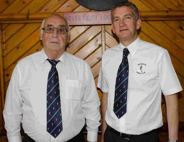 AT THE HELM: Weymouth and Portland RFC club chairman Ian McMillan, left, and Mike Murphy, mini and youth chairman