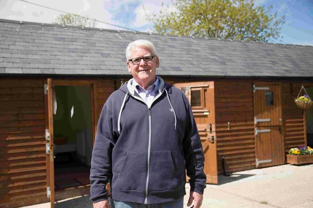 OPEN HOUSE: Warden The Rev Michael Deegan outside the converted stables