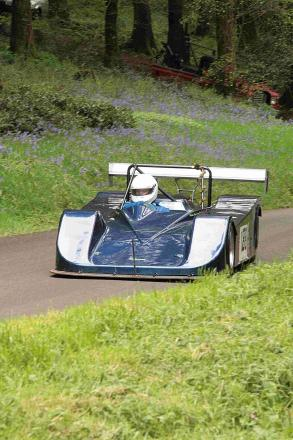 WATER WOES: Rod Thorne takes his first competitive climb in the Pilbeam MP43-Rover V8 before suffering a water pump failure