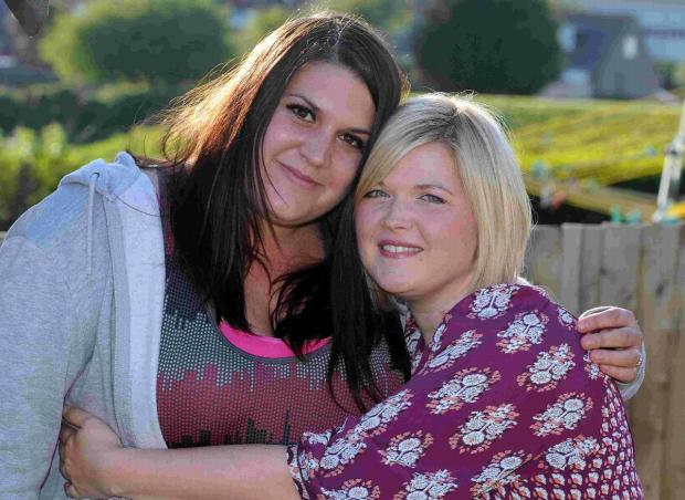 FOREVER FRIENDS: Leanne Carter, left, is running Race for Life for Rebecca Stanton who was recently diagnosed with breast cancer