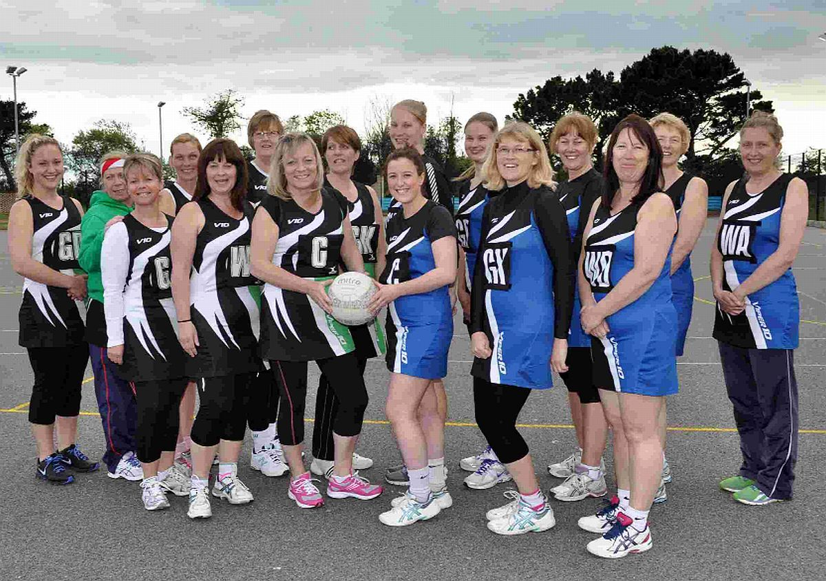 KITTED OUT: Lugger Inn and Cresta Leisure teams in their new kits. Back row, left to right: Becky Chance, Bernie John, Bobbie Bosworth, Elaine Roberson, Andrea Richards, Jane Guppy, Lucy Astrid, Carolyn Allgood, Sue Woo