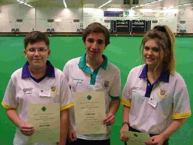 Dorset Echo: TOP TRIO: Junior champion Jack Corbin, senior qualifier Ryan Nash and junior runner-up Louise Woodrow
