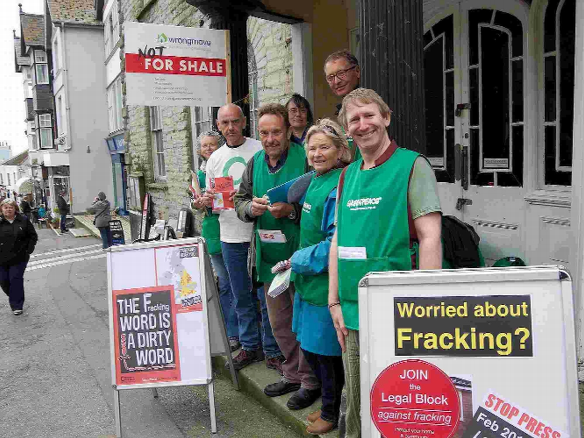 CAMPAIGN: Frack Free Dorset joined West Dorset Greenpeace and Friends of the Earth in Lyme Regis to raise awareness of fracking
