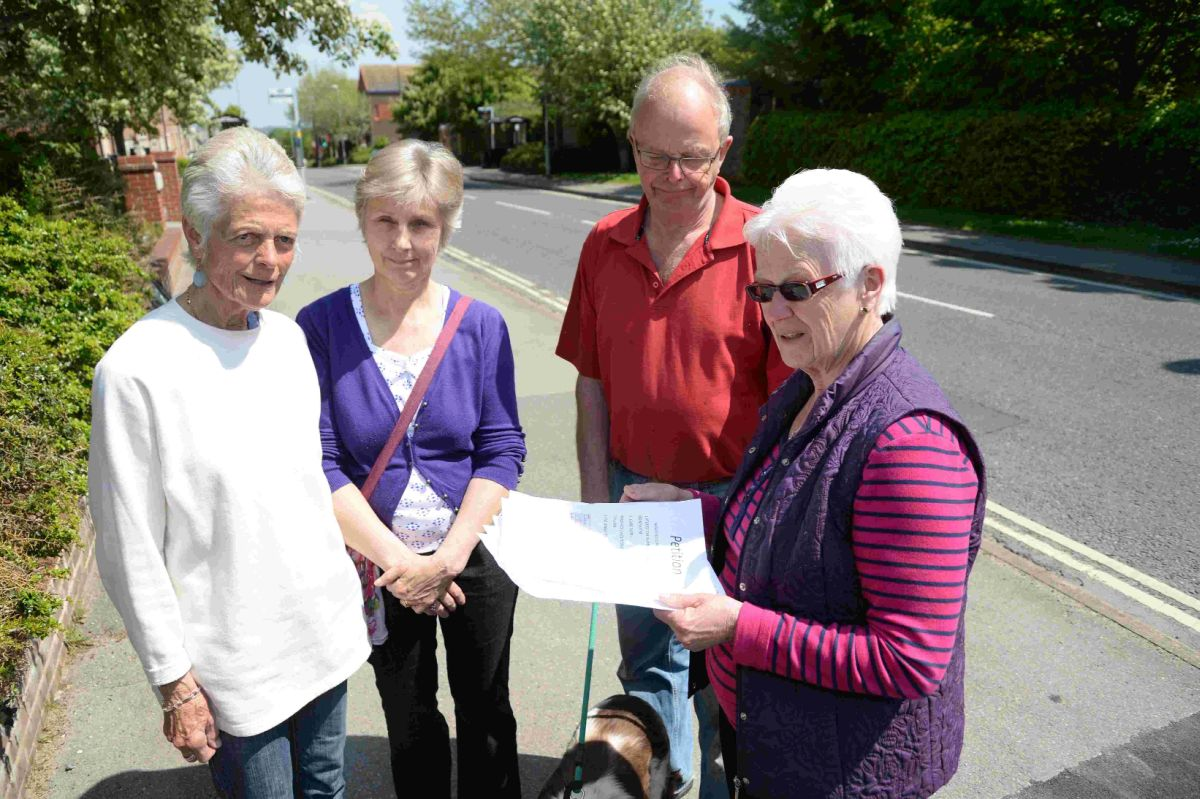 SIGNED UP:  From left, Lorna Low, Kathy Carter, Chris  and Heather Robinson