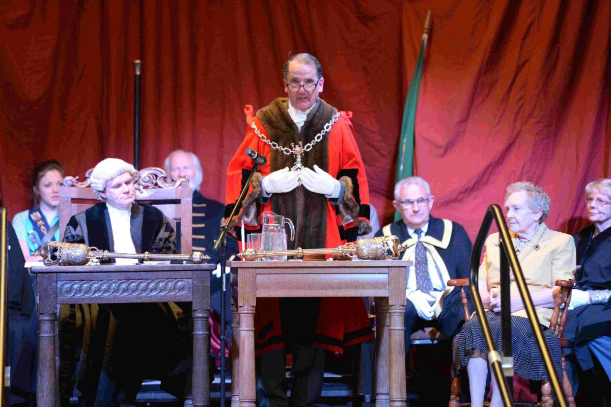TAKING THE HELM: Dorchester's new mayor Cllr Peter Mann