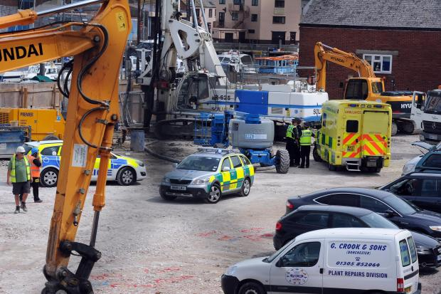 Man injured in building site accident in Weymouth