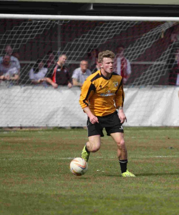 Dorset Echo: READY: New Weymouth winger Lewis Blackmore (Picture: Tim Allan)