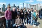 CULTURE VULTURES: Wey Valley students in New York with headteacher Phil Thomas
