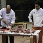 Dorset Echo: Butchers Paul Underwood and Matt Cook