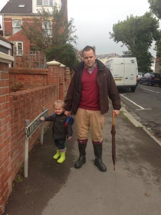 Daniel Batchelor with son Alfie