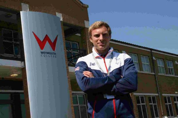 Dorset Echo: COMPETITION: Tom Priest, sports lecturer at Weymouth College who will be representing Team GB at the Aquathlon European Championships in Cologne.