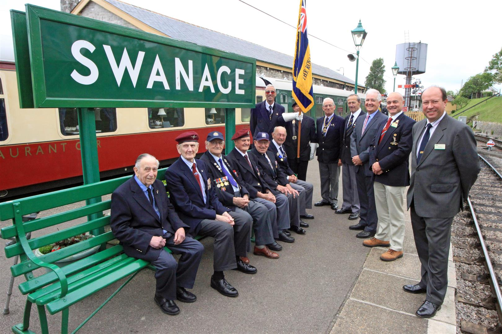 Veterans visit Swanage Railway to commemorate the D-Day anniversary
