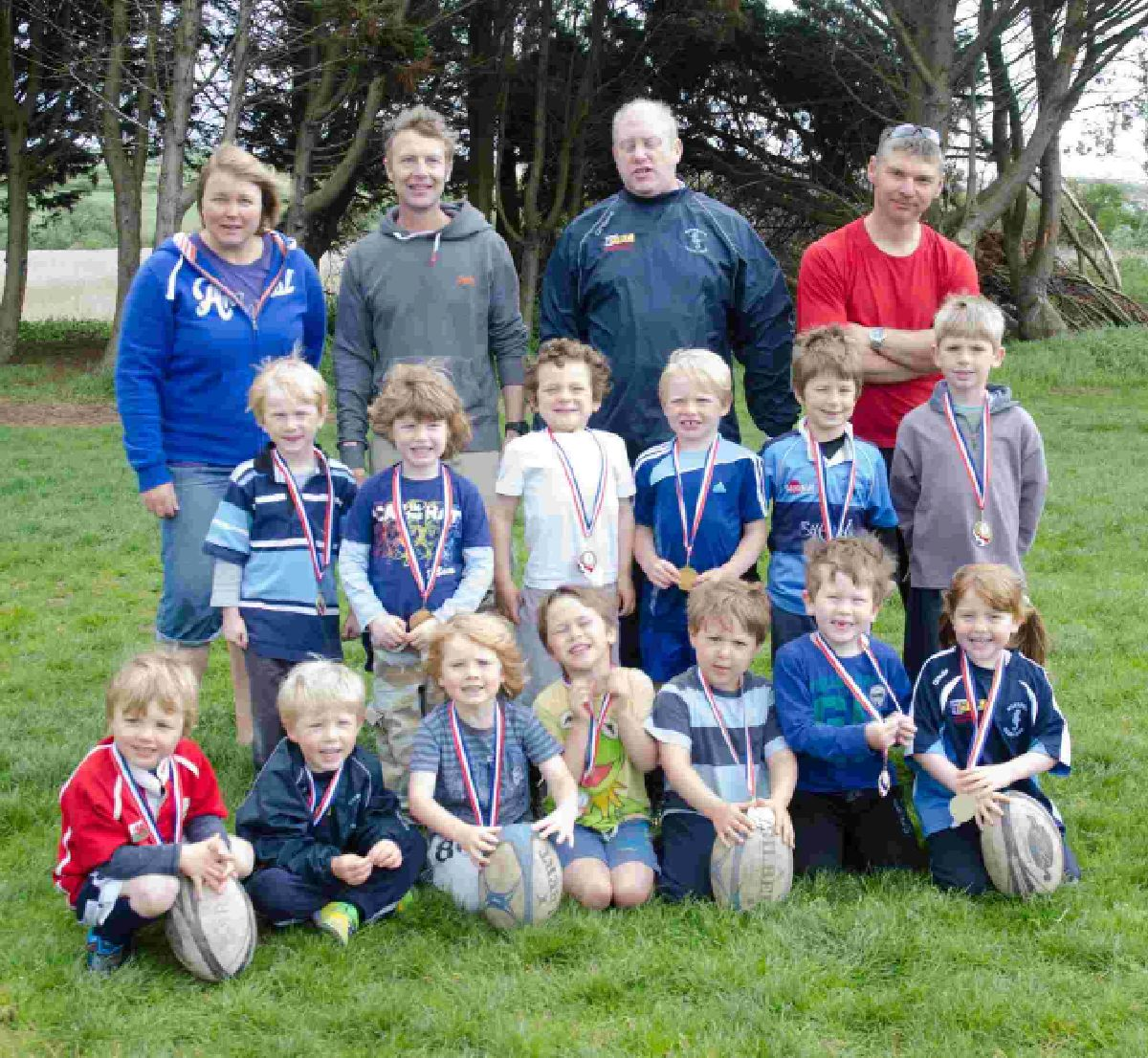 ALL SMILES: Weymouth and Portland Under-6s at the presentation