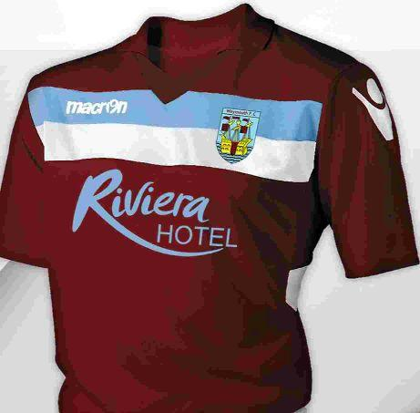FRESH FIT: The new Weymouth home shirt