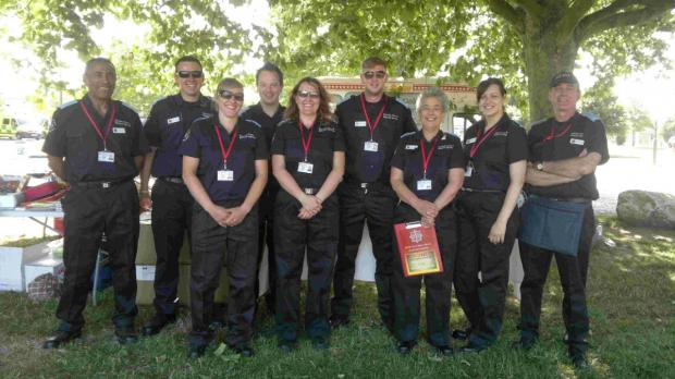 Dorset Echo: ASSET: Volunteers from Dorset Fire and Rescue service at last year's Fire Fayre