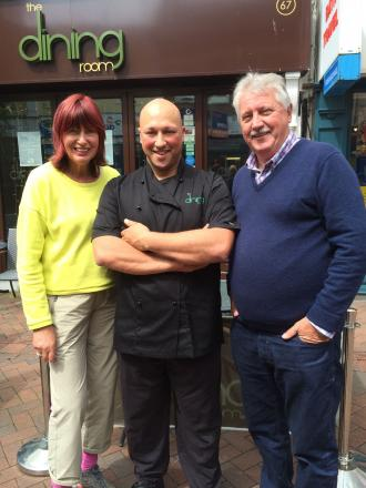 Janet Street-Porter and Brian Turner film at Weymouth restaurant