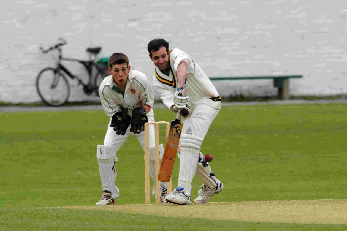 THREE WICKETS: Beaminster's Simon Jones