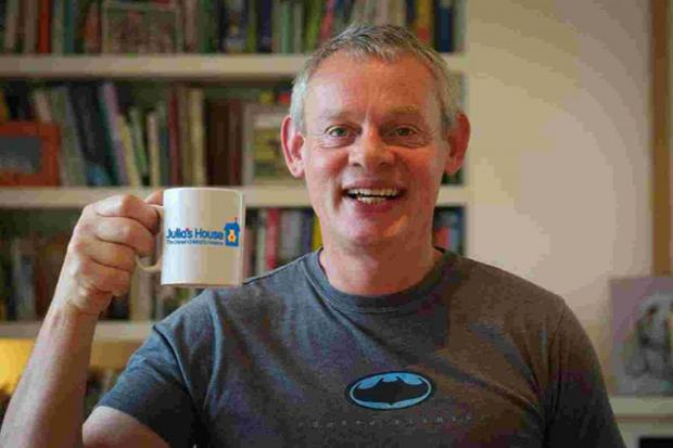 TEA TIME: Martin Clunes has a cuppa for Julia's House