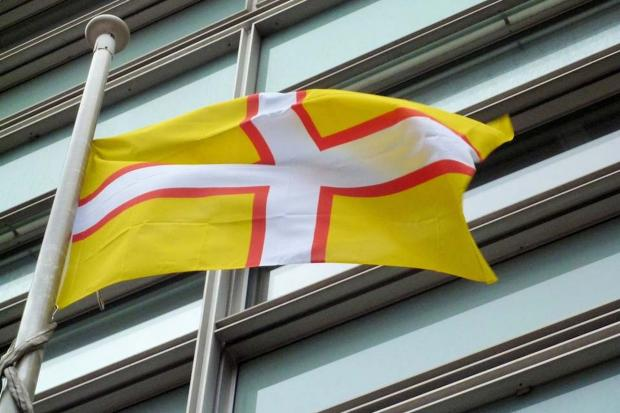 Dorset flag flies in Whitehall