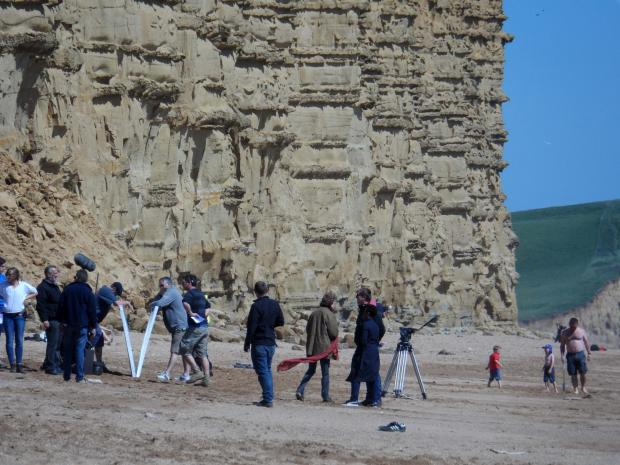 Broachurch filming Day 2: Cameras return to West Bay cliffs