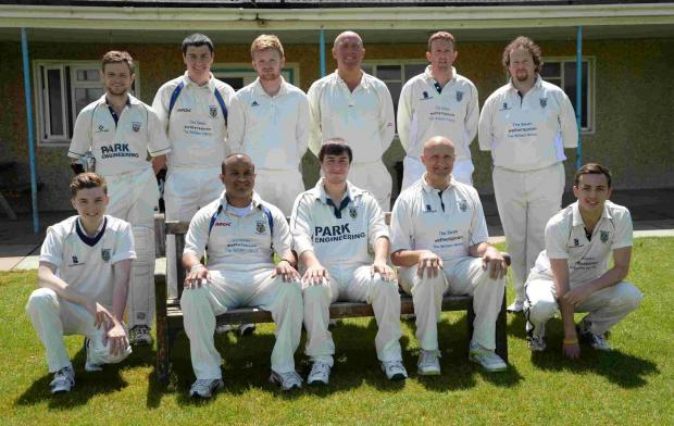 TOP TEAM: Weymouth pose for a team picture before the victory over Ferndown Wayfarers