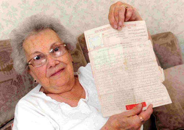 Dorset Echo: MY WORD: Pamela Garrett with letter she received from American soldier