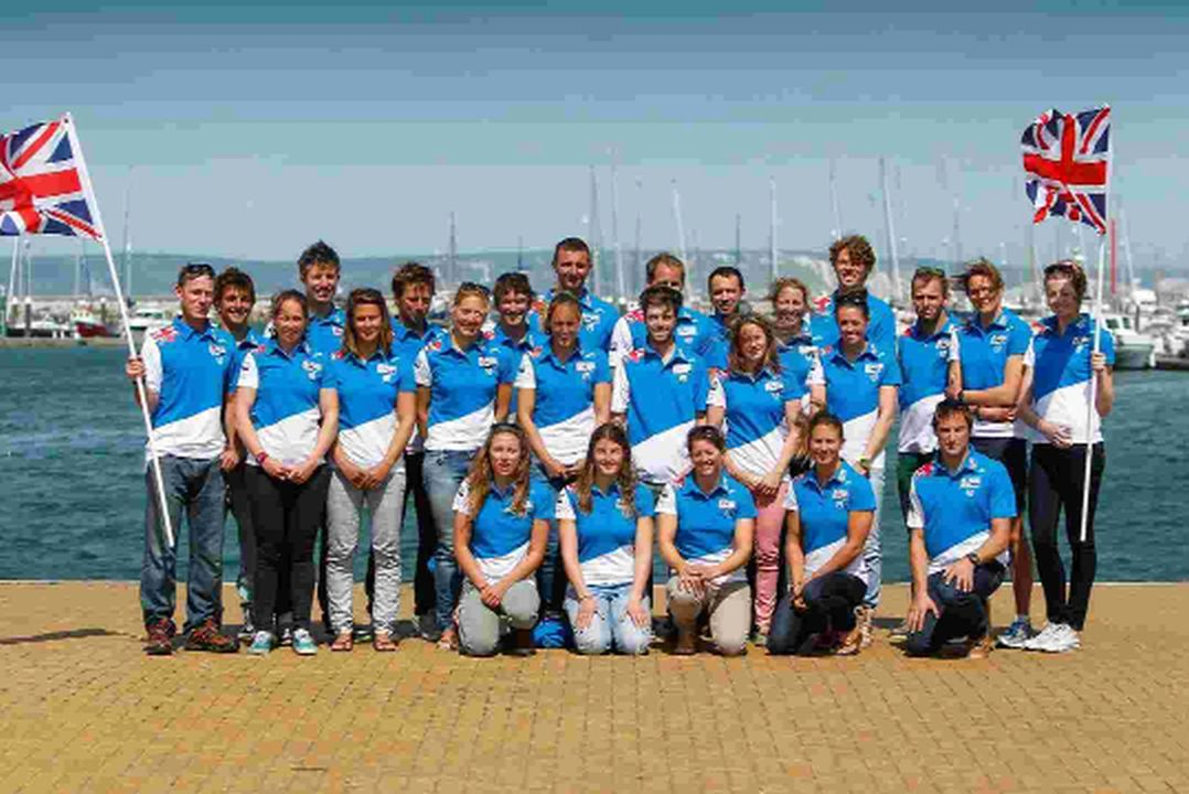 SELECT TEAM: The British Sailing Team squad for the 2014 Olympic Test Event in Rio at the Weymouth & Portland Sailing Academy