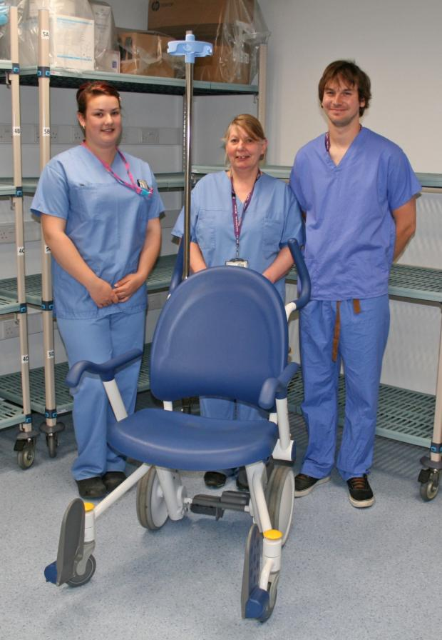 Dorset Echo: New wheelchairs roll into action at Dorset County Hospital