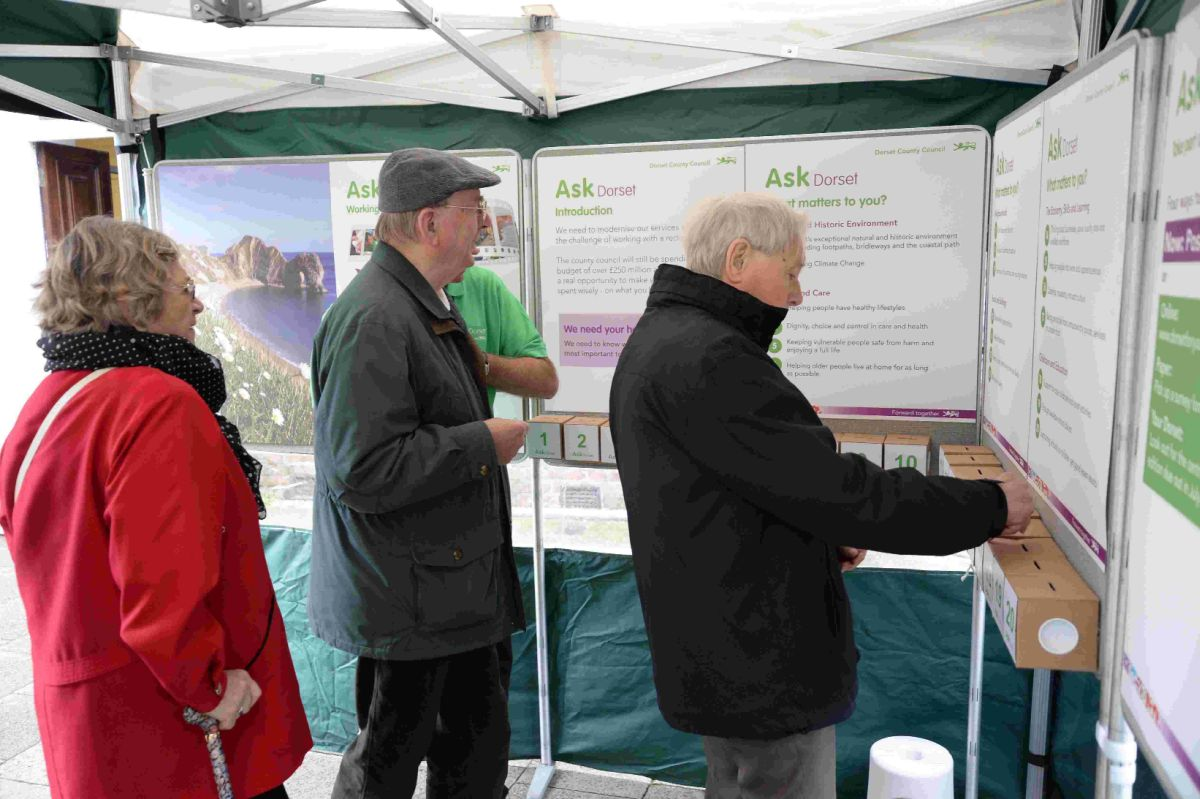 CHOICE: Public have their say at the 'Ask Dorset' event