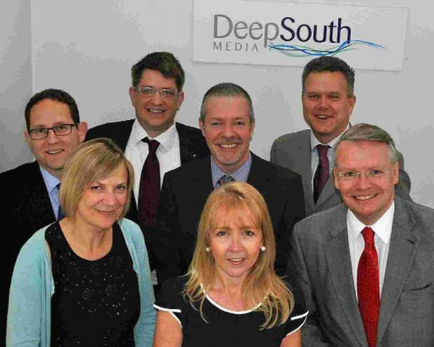 WELCOME ABOARD: Debbie Granville, centre, with the rest of the Deep South team