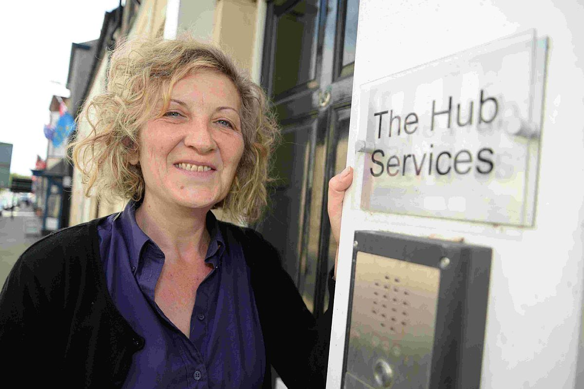 NEW HOME: Rita Pickett at the new location of The Hub in Dorchester
