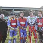 Dorset Echo: LAST OUTING: Weymouth Wildcats, from left: Tim Allan (team manager), Jay Herne, Brendan Johnson, Richard Andrews and Danny Stoneman
