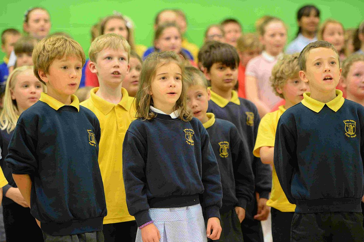 fine voice: DASP World Cup anthems singing project held at St. Osmund's School