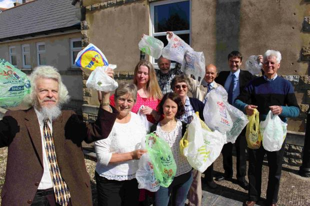 Members of the Dorset Campaign Against Litter with bags destined for landfill sites