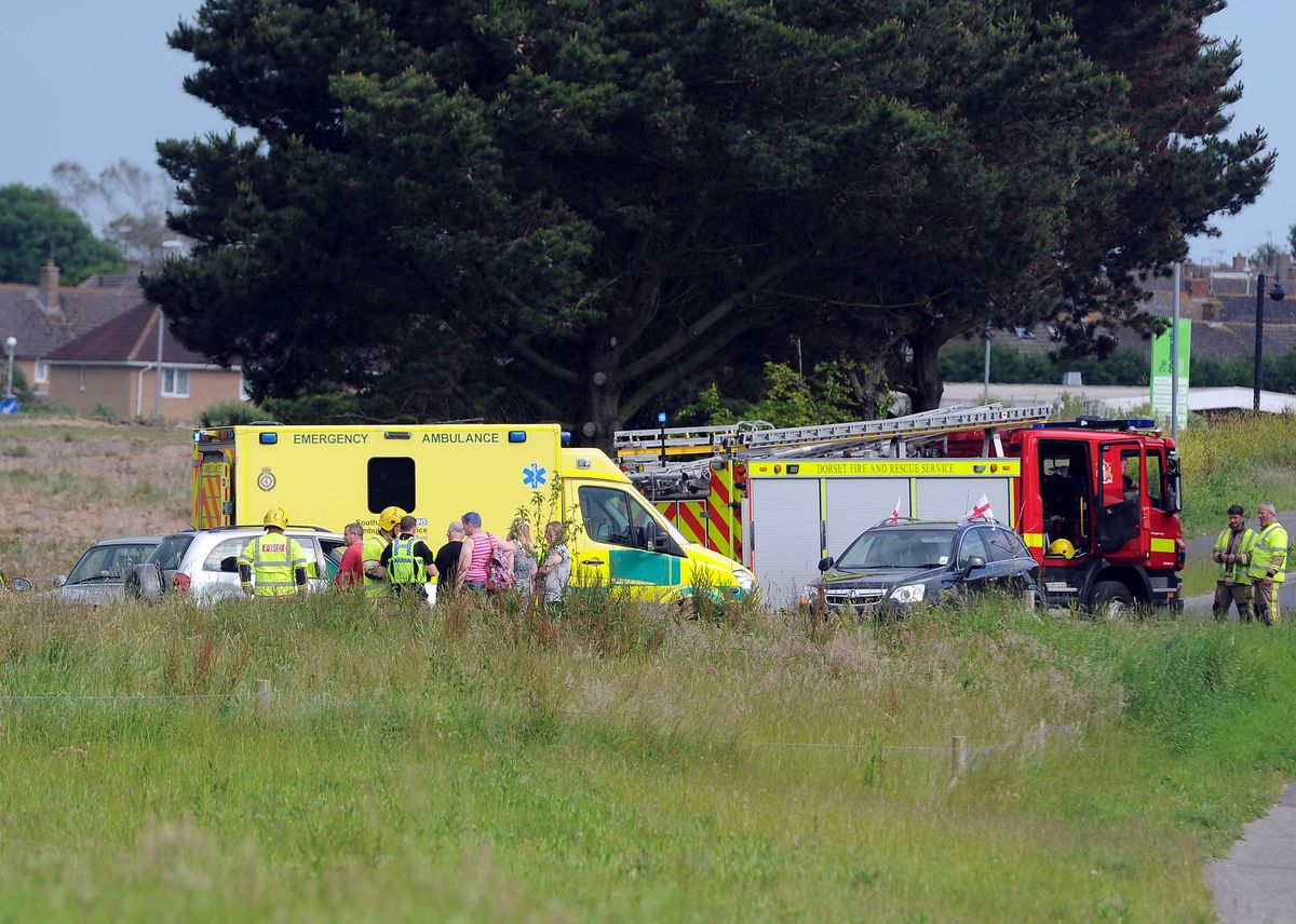 ACCIDENT: The scene on Littlemoor Road.   Picture: FINNBARR WEBSTER