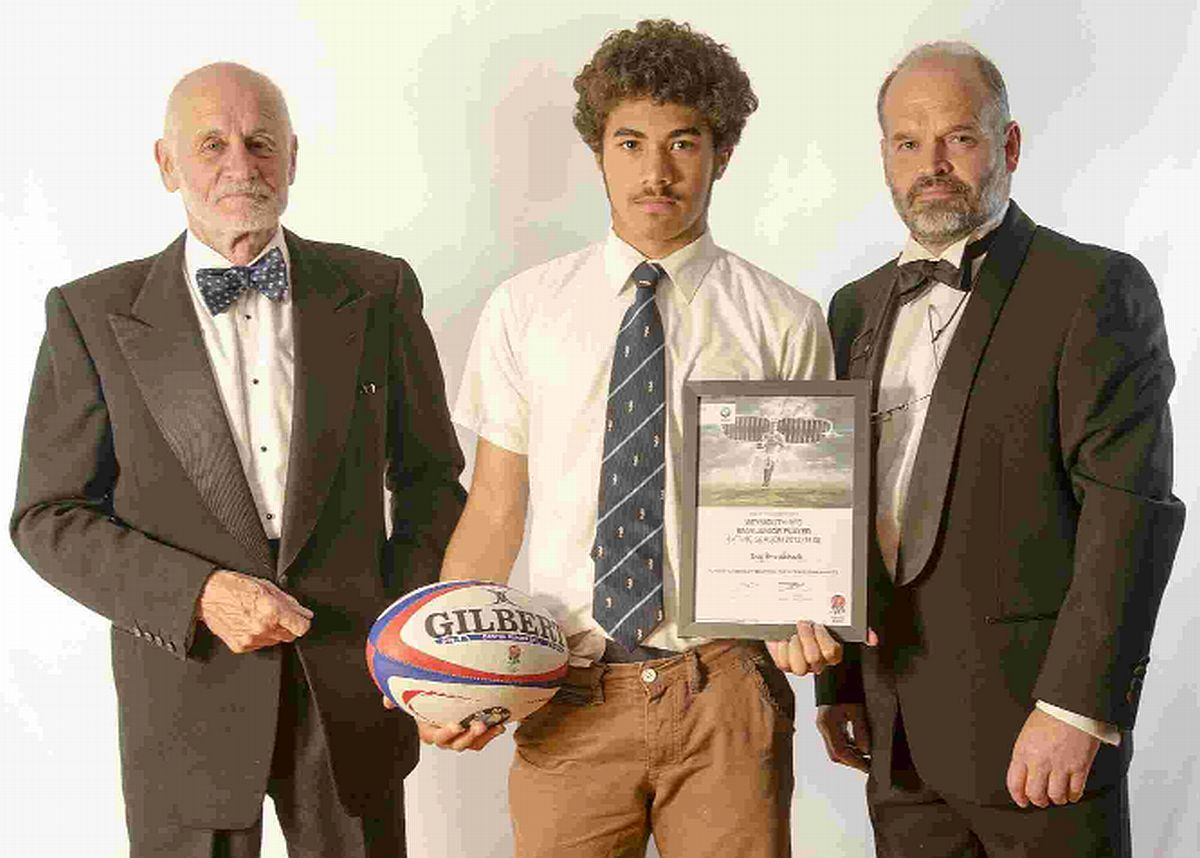 SPECIAL ACCOLADE: BMW junior player of the season Troy Brocklebank, centre, with Des Quick, left, and Dave Stone