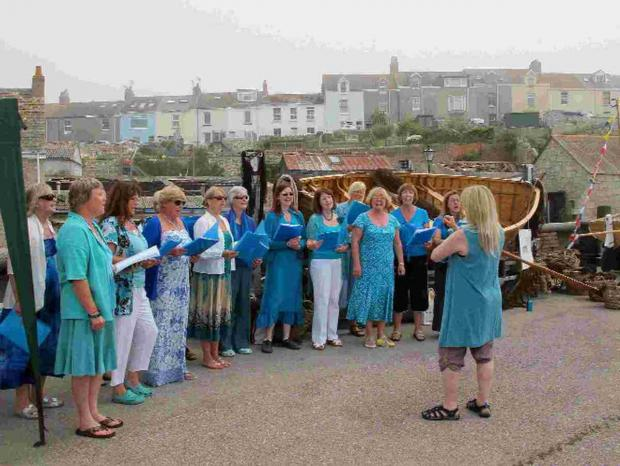Dorset Echo: CHOSEN ONE: Island Voices at last year's Spirit of Portland