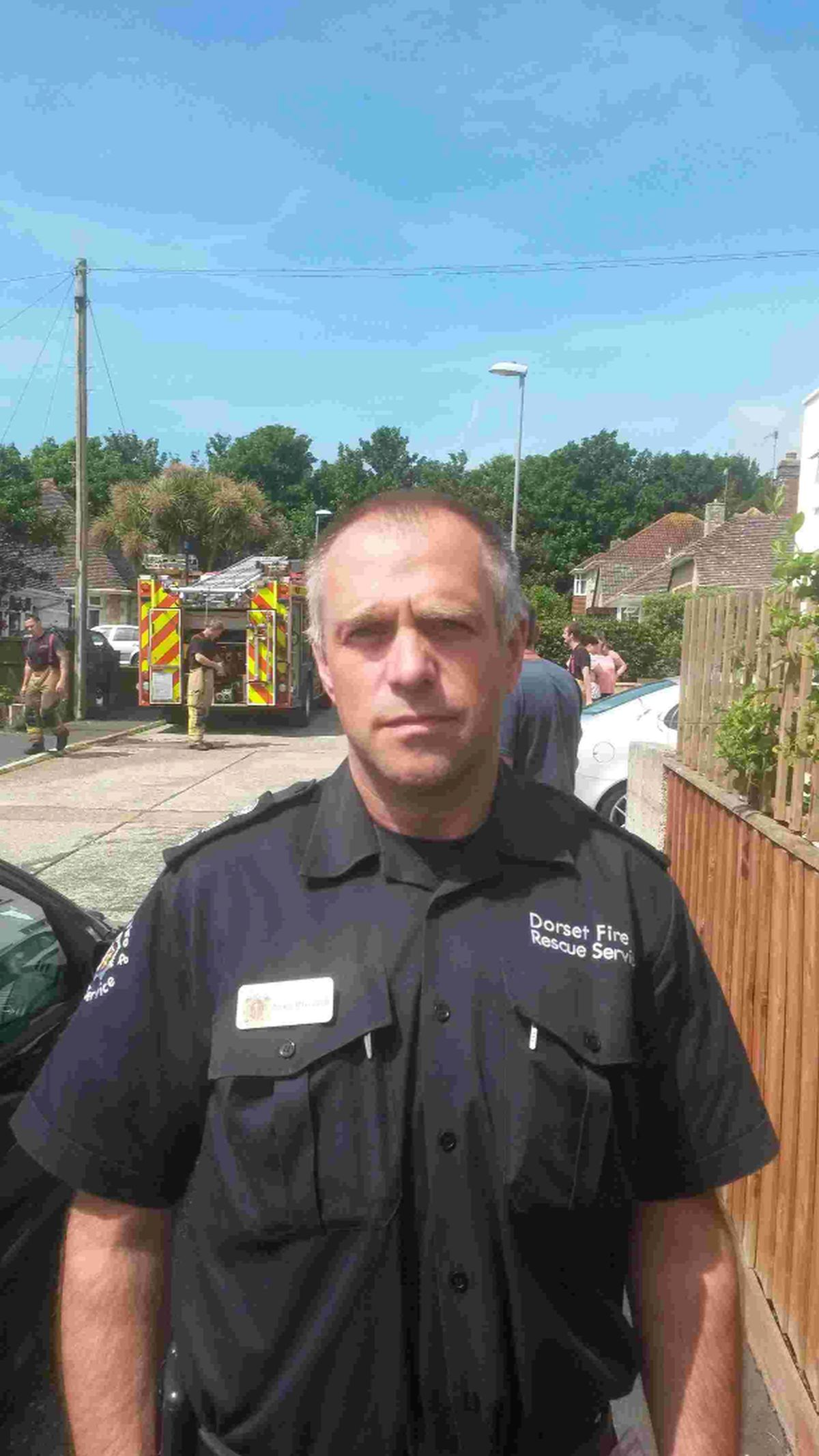 CALL-OUT: Weymouth fire station manager Sean Blizzard
