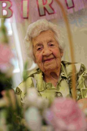 TON UP: Phyllis Seabright celebrates her 100th birthday