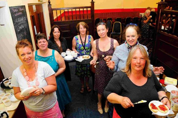 Dorset Echo: TEA TREAT: The Community Mental Health Team for older people in Dorchester at the afternoon tea dance at the Trinity Club
